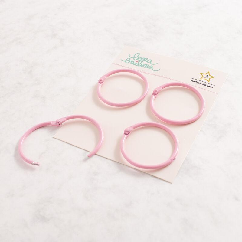Lora Bailora - Book Ring 45 mm - Pastel Pink (4 Pieces)