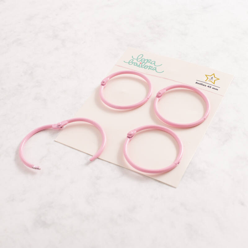 Lora Bailora - Book Ring 45 mm - Pastel Pink (4 Pieces)