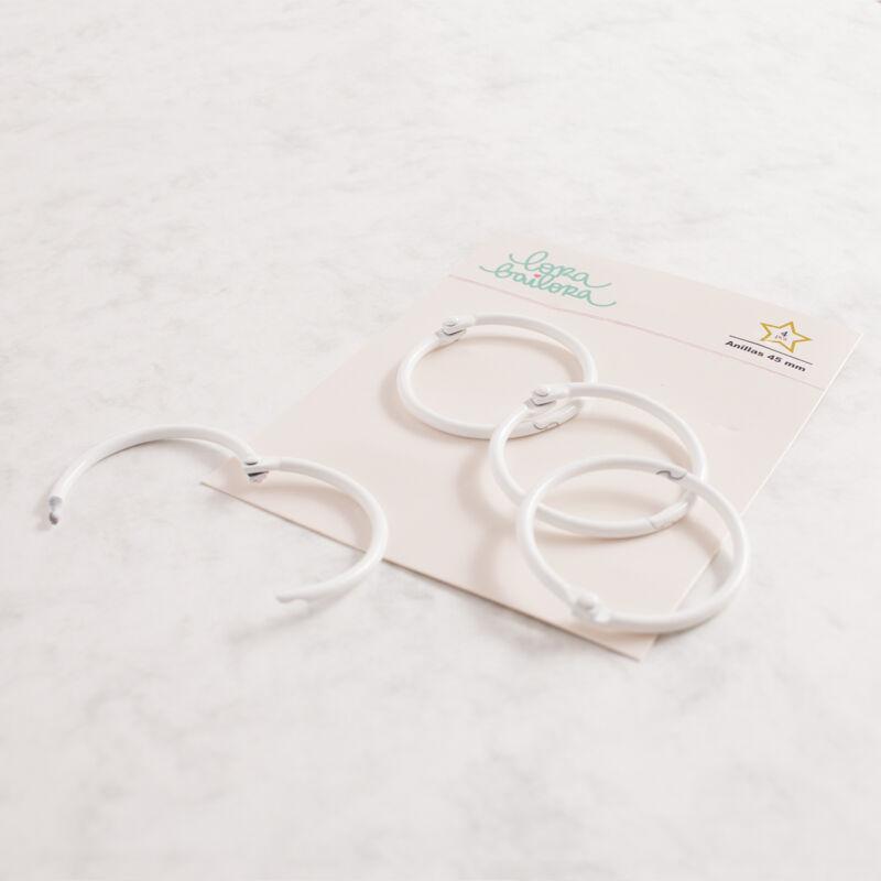 Lora Bailora - Book Ring 45 mm - White (4 Pieces)