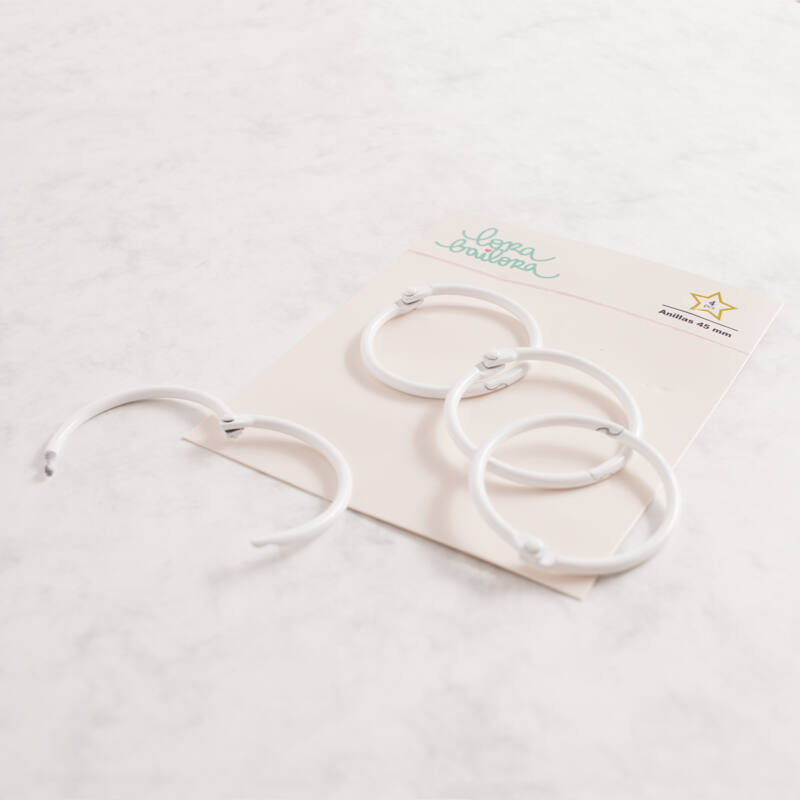 Lora Bailora - Book Ring 45 mm - White (4 Pieces)