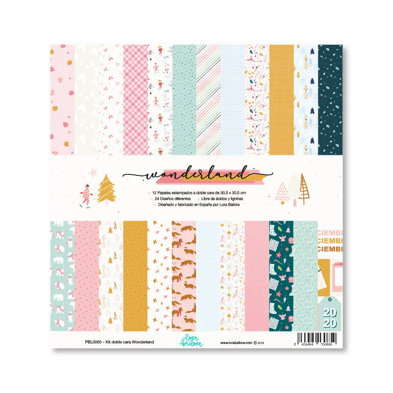 Lora Bailora - Wonderland 12x12 Paper Kit (12 Sheets)