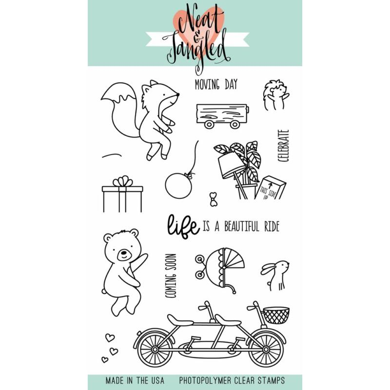 Neat & Tangled 4x6 Stamp Set - Ride with Me