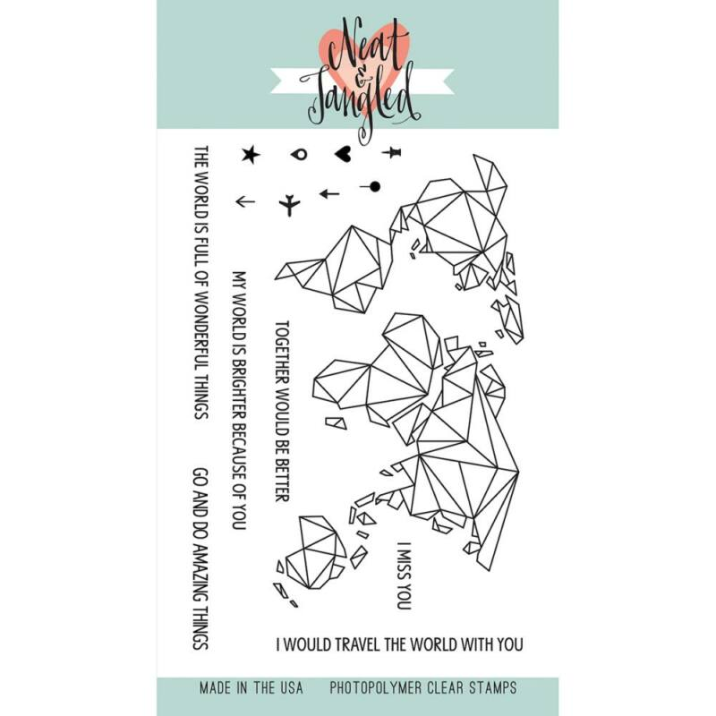 Neat & Tangled 4x6 Stamp Set - Origami Map