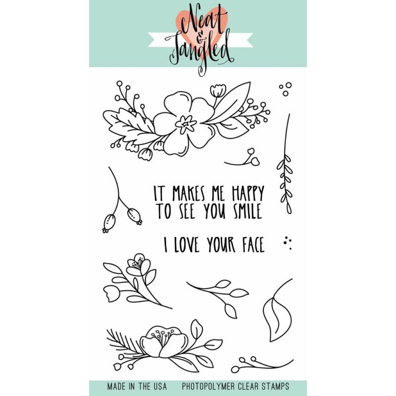 Neat and Tangled Stamp Set - Friendly Florals