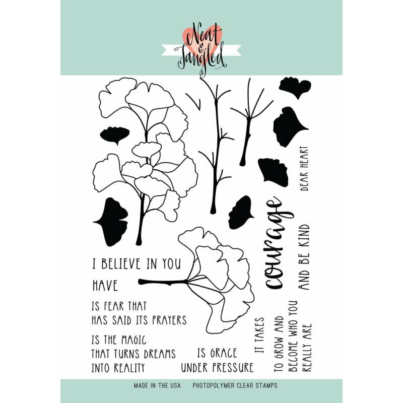 Neat and Tangled Stamp Set - Have Courage