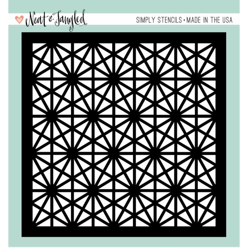 Neat and Tangled Simply Stencils - Hexastar