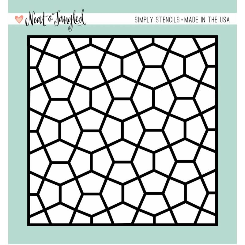 Neat and Tangled Simply Stencils - Pentagon