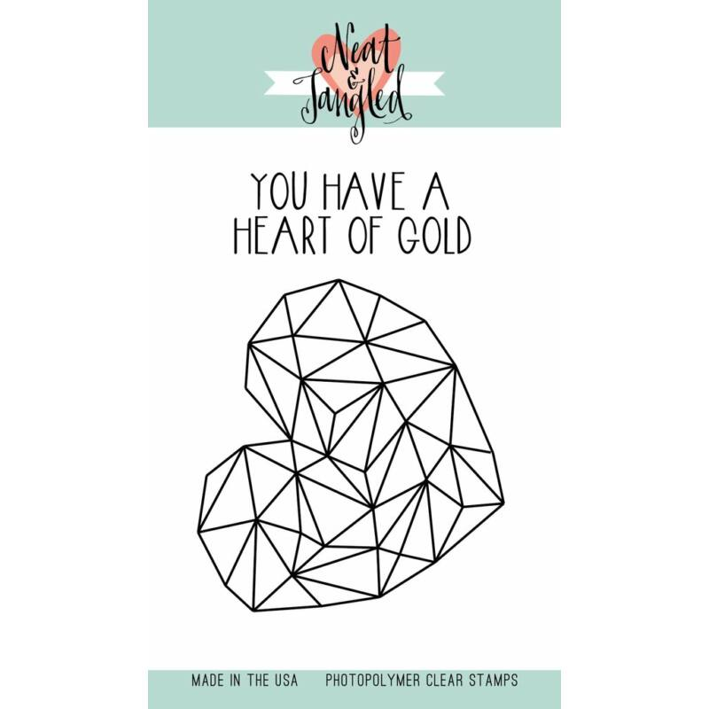 Neat & Tangled 3x4 Stamp Set - Heart of Gold