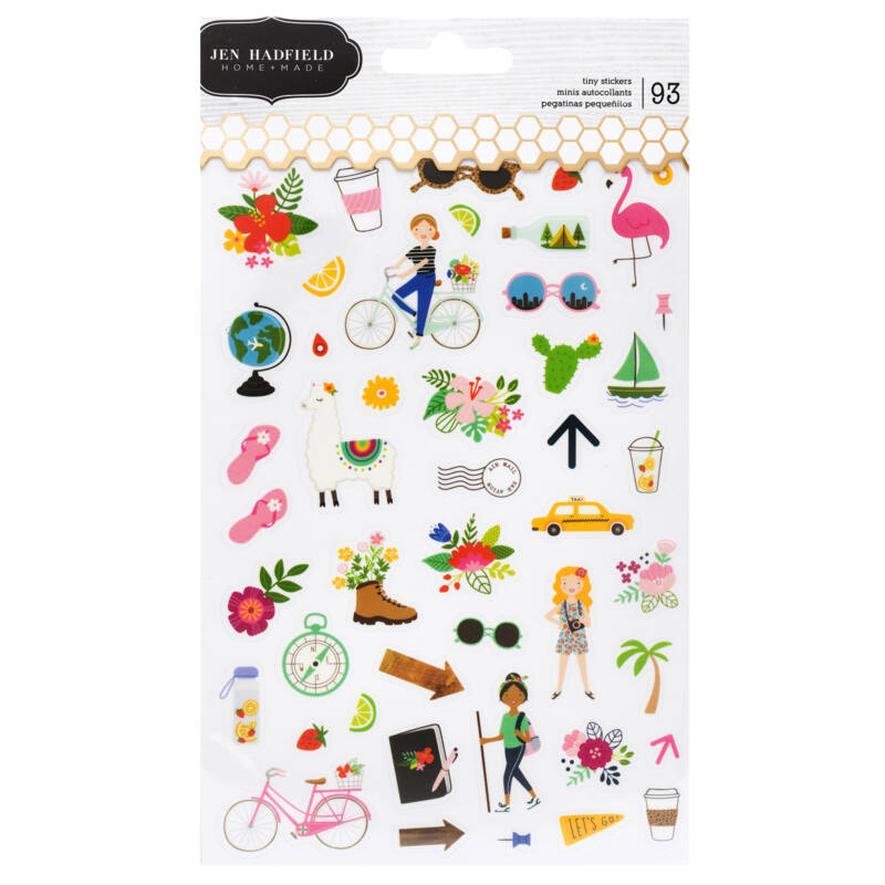 Pebbles - Chasing Adventures Tiny Clear Stickers (93 Piece)