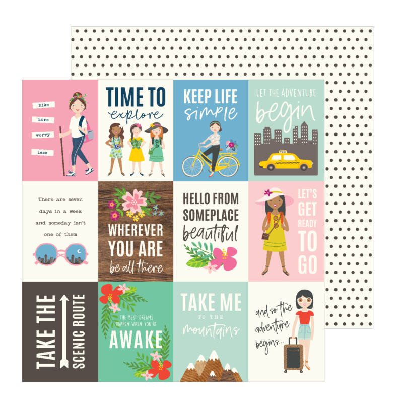 Pebbles - Chasing Adventures 12x12 Patterned Paper - Adventure