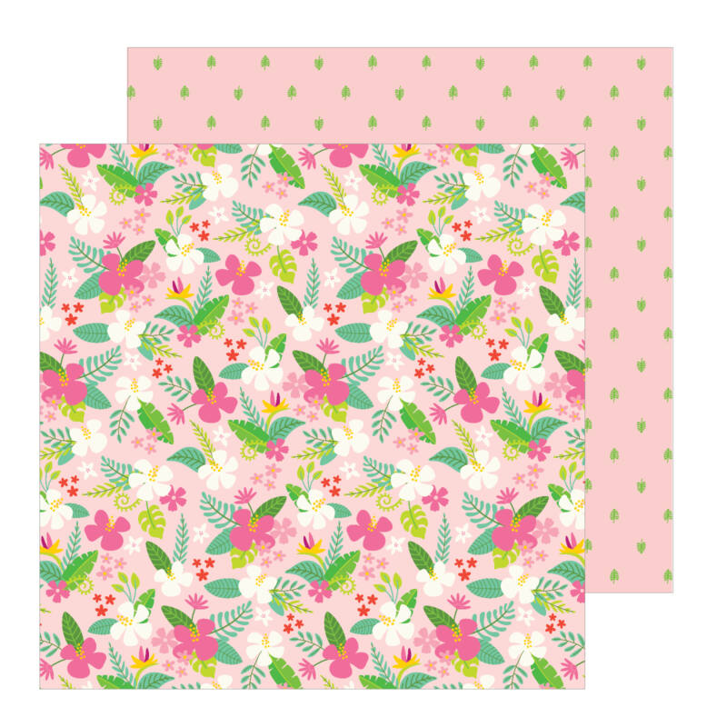 Pebbles - Chasing Adventures 12x12 Patterned Paper - Tropical Delight