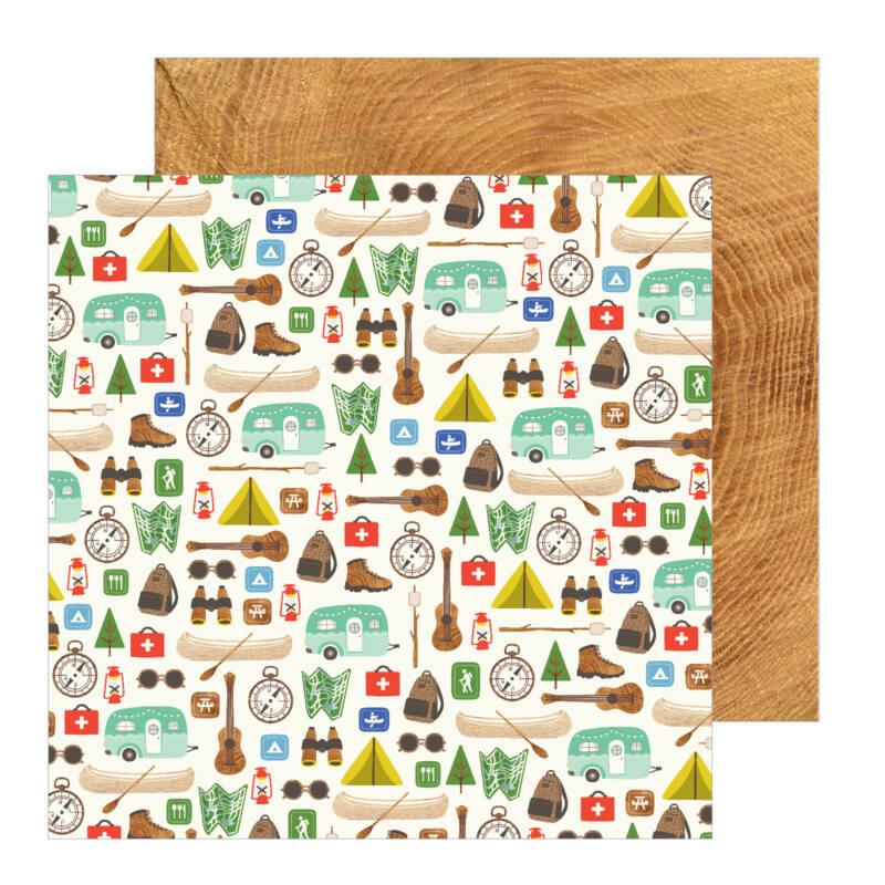 Pebbles - Chasing Adventures 12x12 Patterned Paper - The Great Outdoors