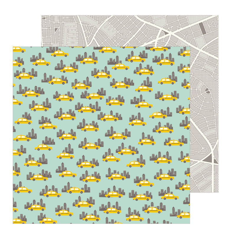 Pebbles - Chasing Adventures 12x12 Patterned Paper - Big City