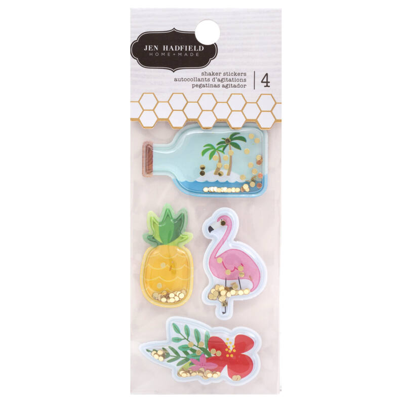 Pebbles - Chasing Adventures Inflated Shaker Stickers (4 Piece)