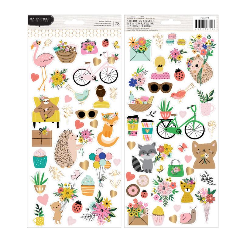 Pebbles - Hey, Hello 6x12 Sticker Sheet (78 Piece)