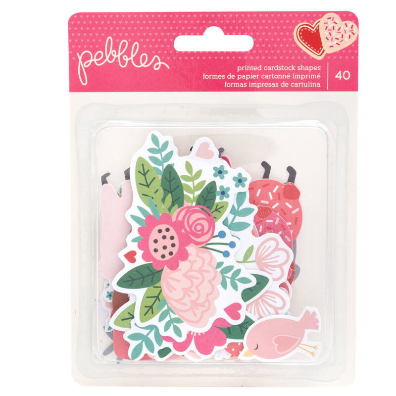 Pebbles - Loves Me Icon Ephemera (40 Piece)