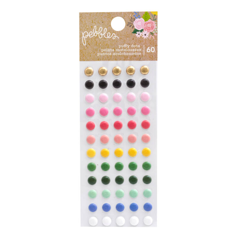 Pebbles - Lovely Moments Puffy Dots (60 Piece)