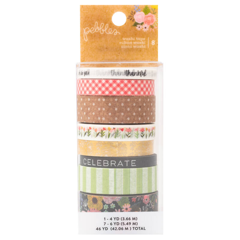 Pebbles - Lovely Moments Washi Tape (8 Piece)