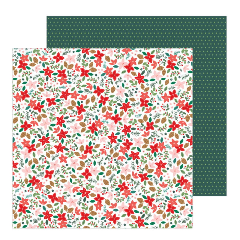 Pebbles - Merry Little Christmas 12x12 Patterned Paper - Deck The Halls
