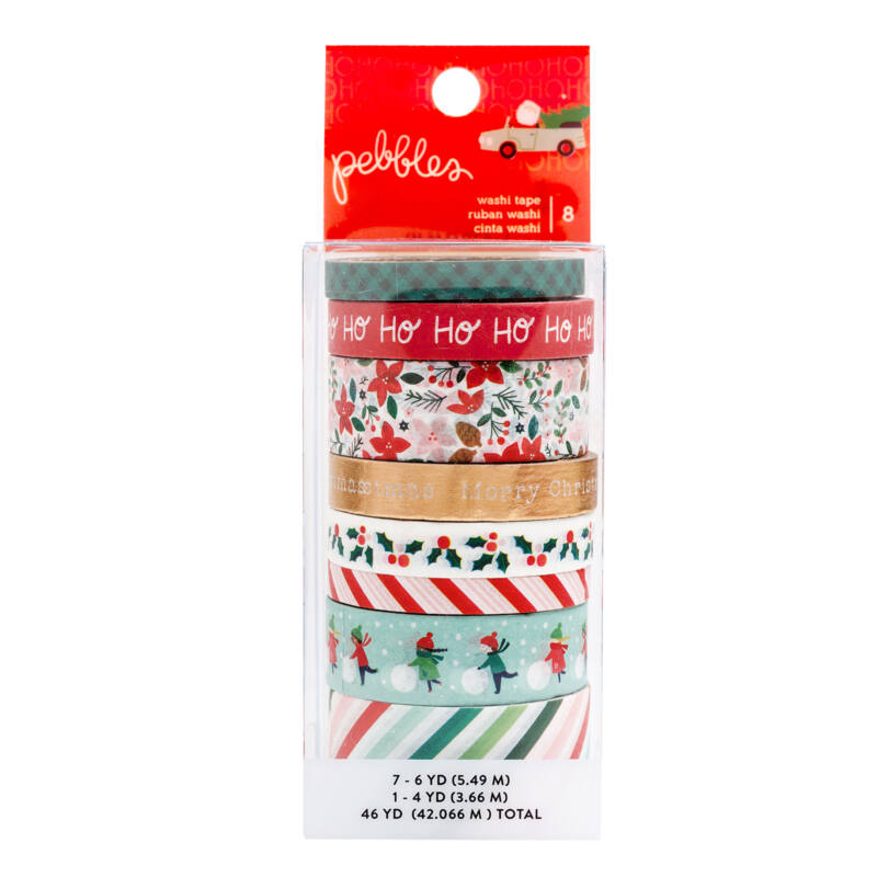Pebbles - Merry Little Christmas Washi Tape Set (8 Piece)