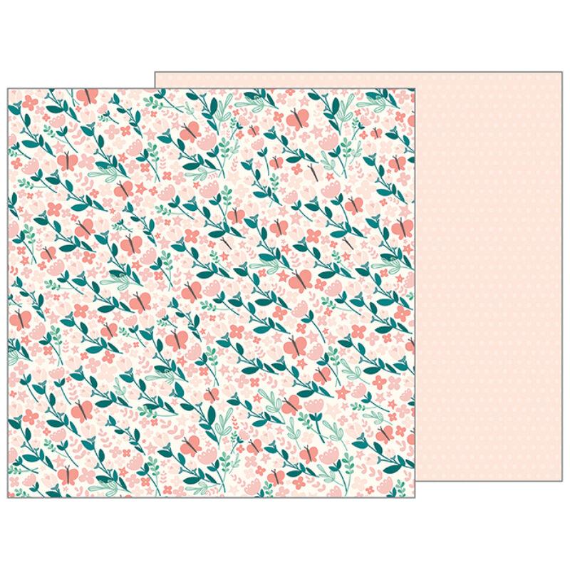 Pebbles - Nigh Night 12x12 scrapbook papír - Summer Breeze