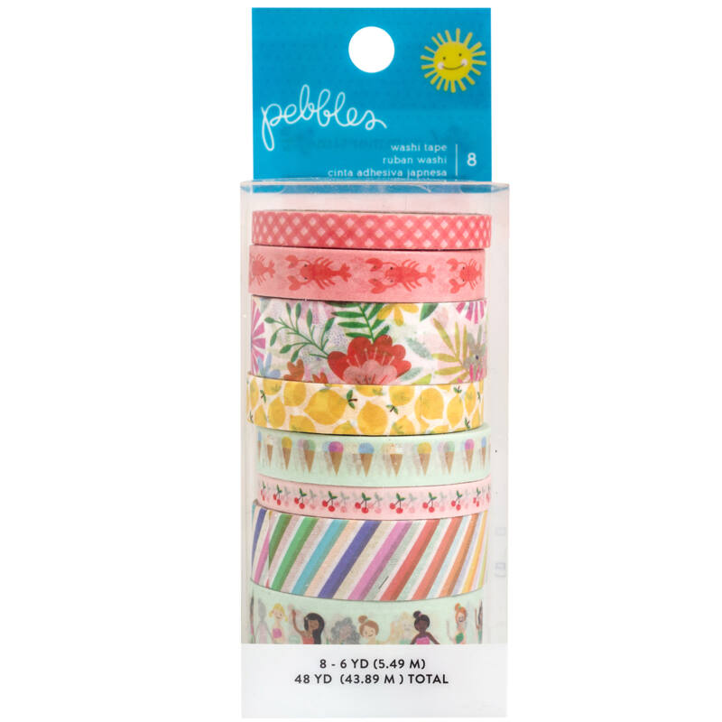Pebbles - Oh Summertime Washi Tape (8 Piece)