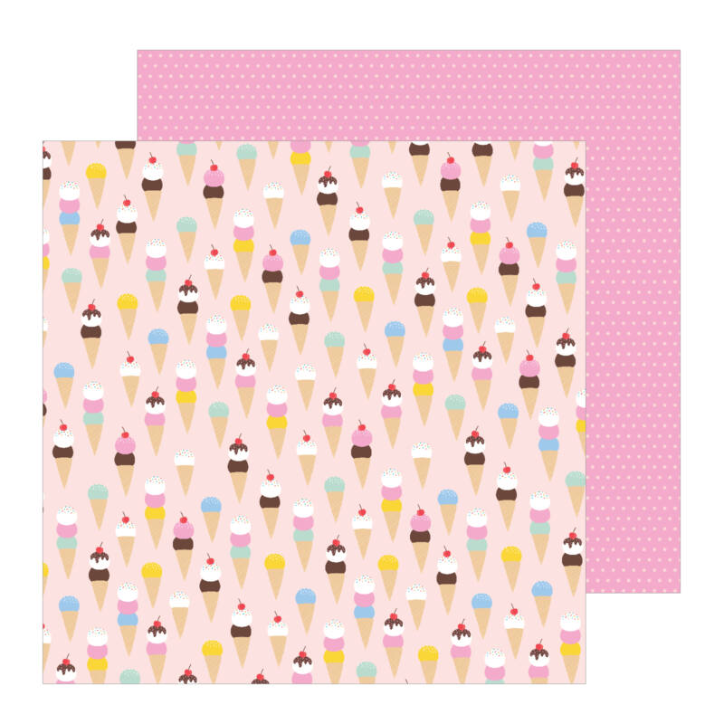 Pebbles - Oh Summertime 12x12 scrapbook papír -  Scoops