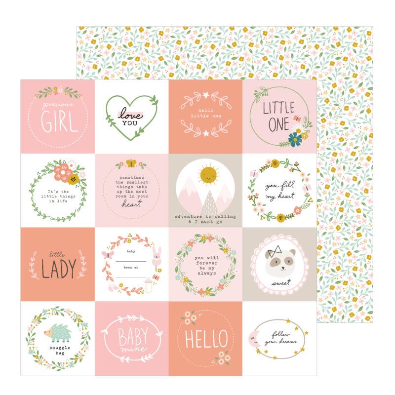 Pebbles - Peek-A-Boo You 12x12 Pattern Paper - Little One