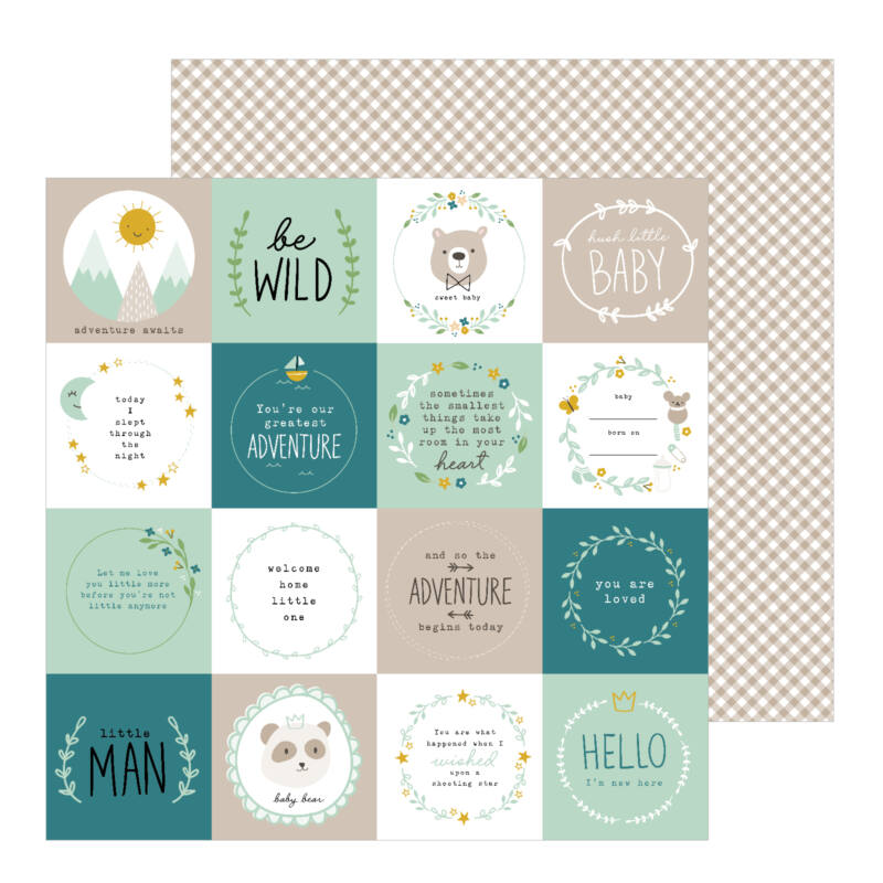 Pebbles - Peek-A-Boo You 12x12 scrapbook papír - Be Wild