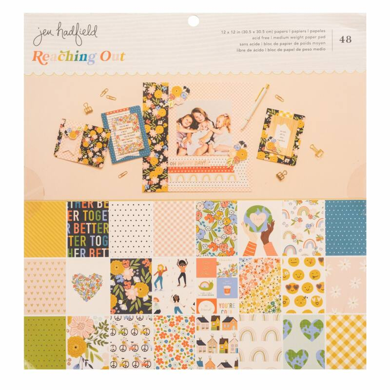 American Crafts - Jen Hadfield - Reaching Out 12x12 Paper Pad (48 Sheets)