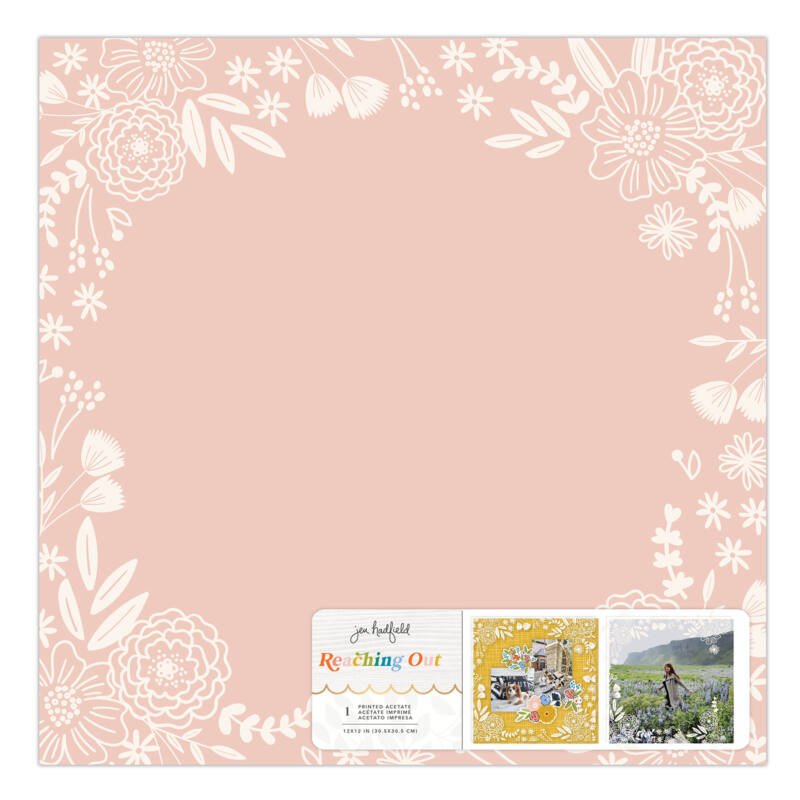 American Crafts - Jen Hadfield - Reaching Out 12x12 Specialty Paper - Printed Acetate