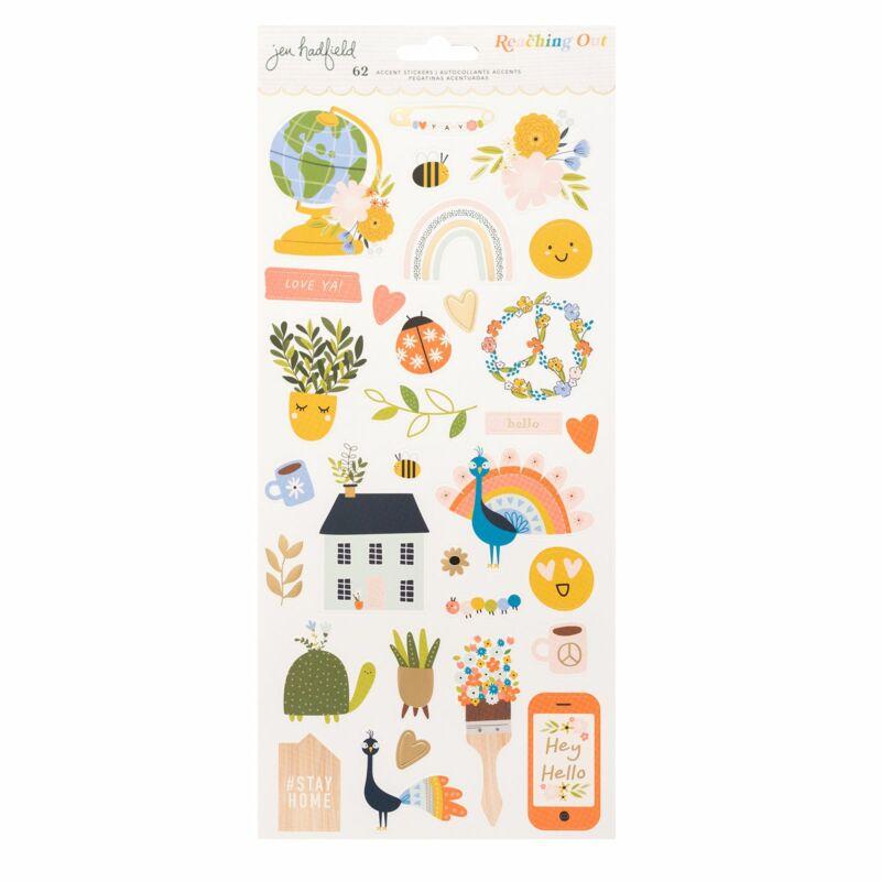 American Crafts - Jen Hadfield - Reaching Out 6x12 Sticker (62 Piece)