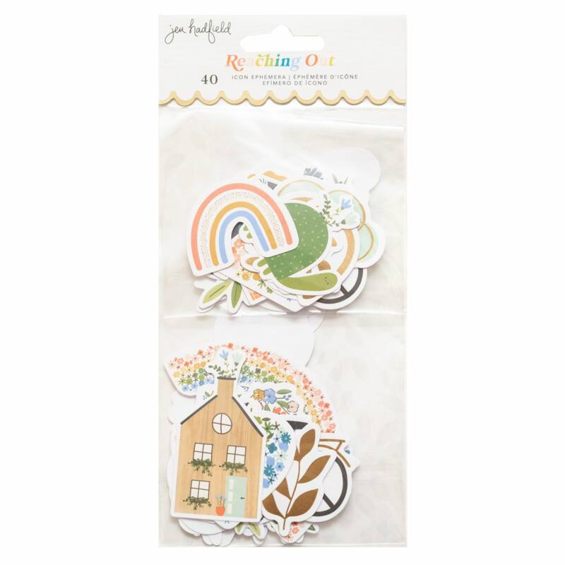 American Crafts - Jen Hadfield - Reaching Out Icon Ephemeral (40 Piece)