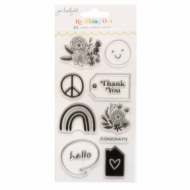 American Crafts - Jen Hadfield - Reaching Out Acrylic Stamps (11 Piece)