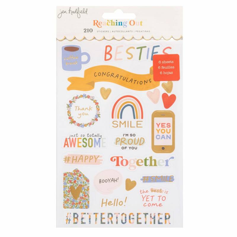 American Crafts - Jen Hadfield - Reaching Out Sticker Book (210 Piece)