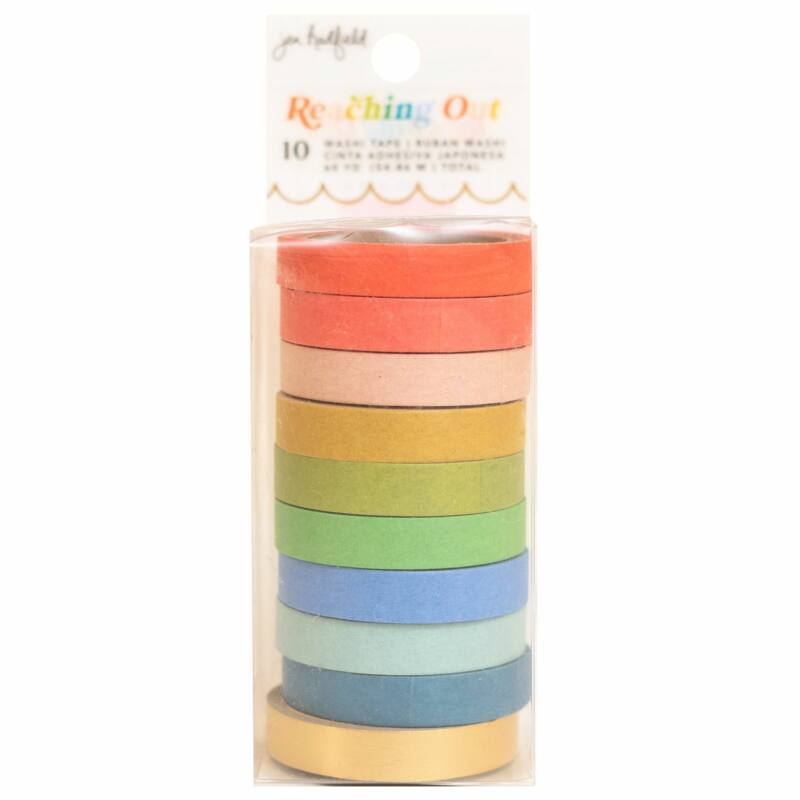 American Crafts - Jen Hadfield - Reaching Out Washi Tape - Solid (10 Piece)