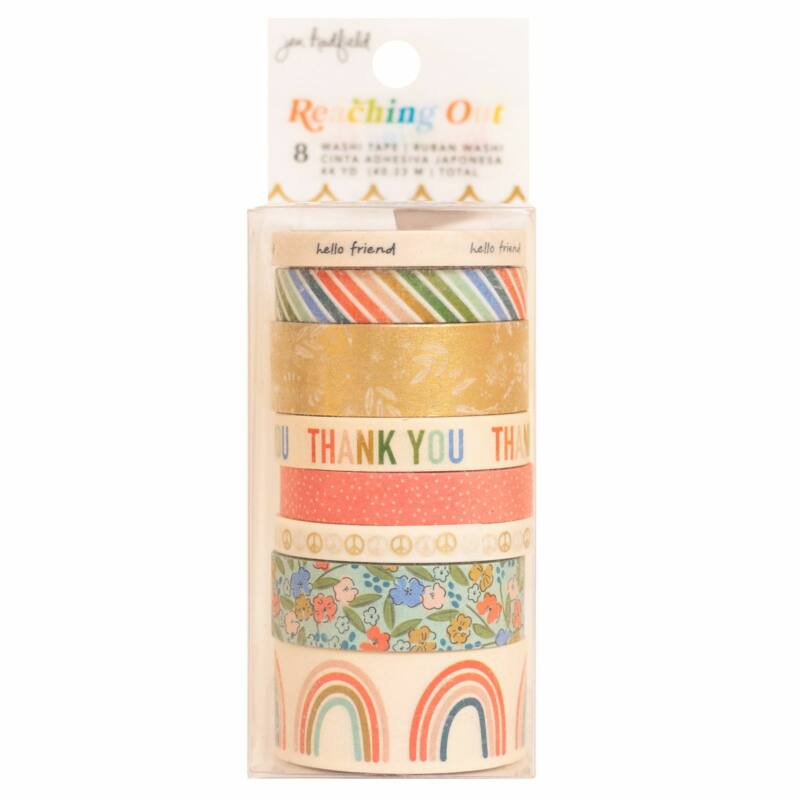 American Crafts - Jen Hadfield - Reaching Out Washi Tape Set (8 Piece)