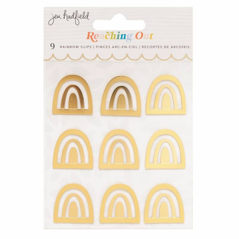 American Crafts - Jen Hadfield - Reaching Out Rainbow Clips (9 Piece)
