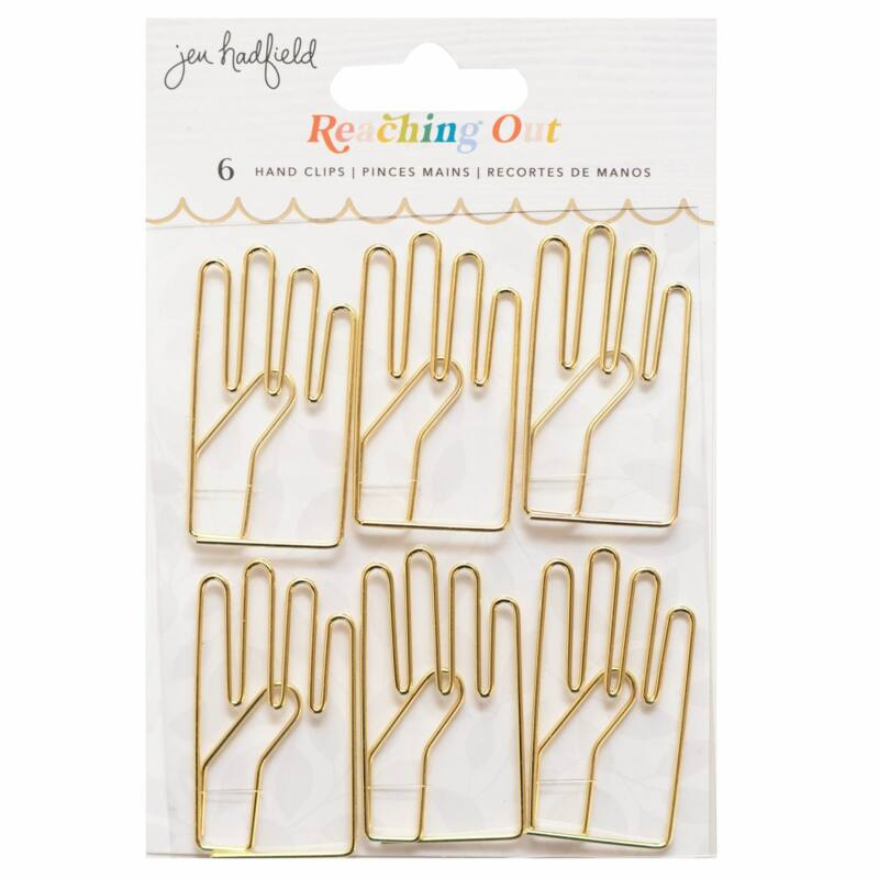 American Crafts - Jen Hadfield - Reaching Out Hand Clips (6 Piece)