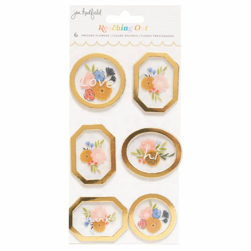 American Crafts - Jen Hadfield - Reaching Out Pressed Flowers (6 Piece)