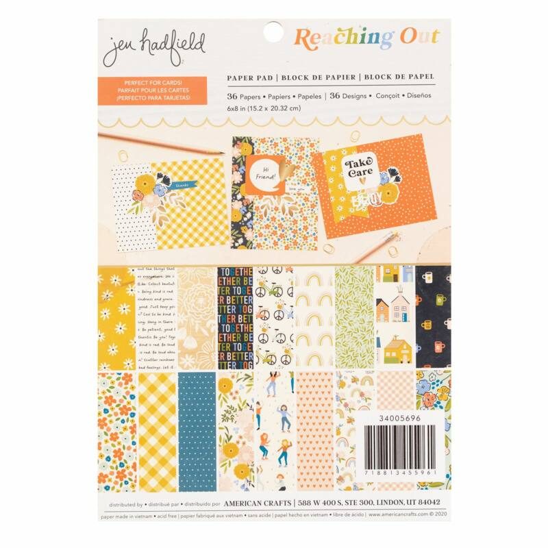 American Crafts - Jen Hadfield - Reaching Out 6x8 Paper Pad (38 Sheets)