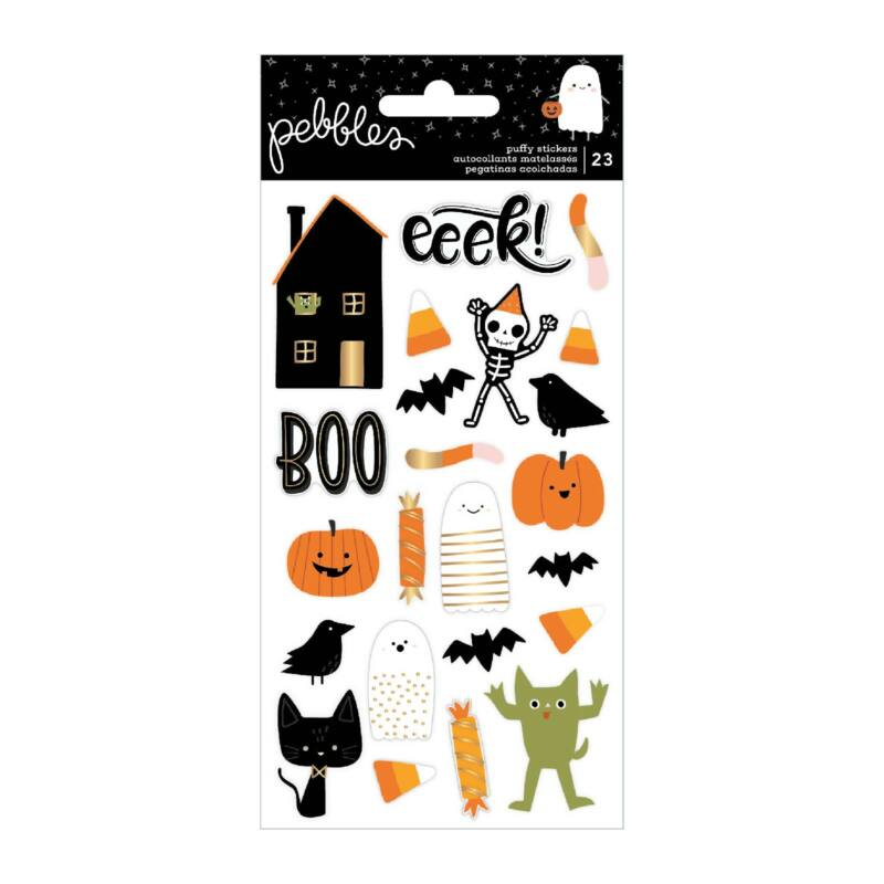 Pebbles - Spoooky Puffy Stickers (23 Piece)