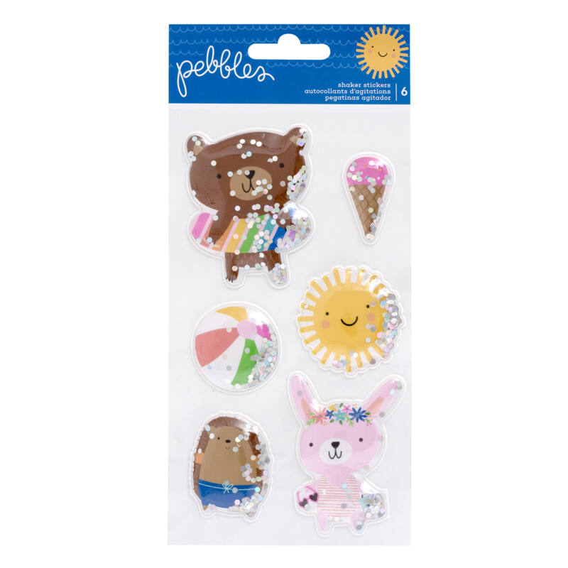Pebbles - Sun and Fun Shaker Stickers (6 Piece)