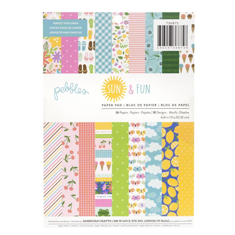 Pebbles - Sun and Fun 6x8 Paper Pad (36 Sheets)