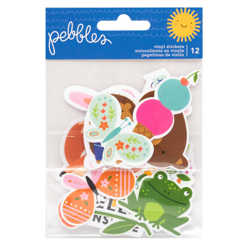 Pebbles - Sun and Fun Waterproof Vinyl Stickers (12 Piece)