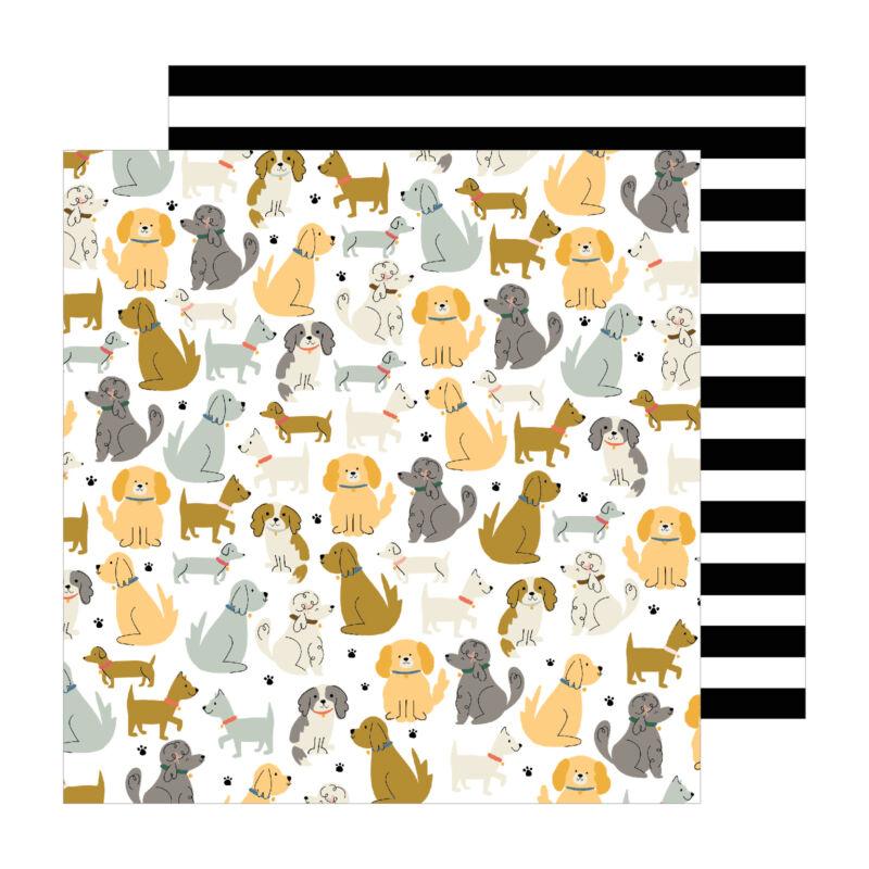 Pebbles - The Avenue 12x12 Paper - Puppy Park