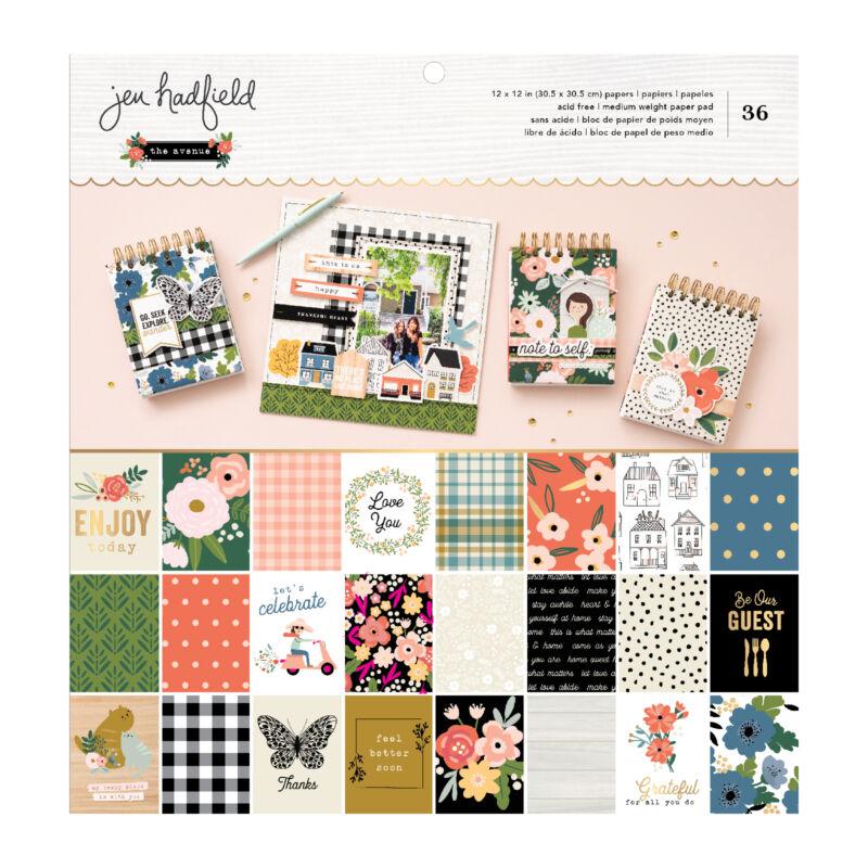 Pebbles - The Avenue 12x12 Paper Pad (36 Sheets)