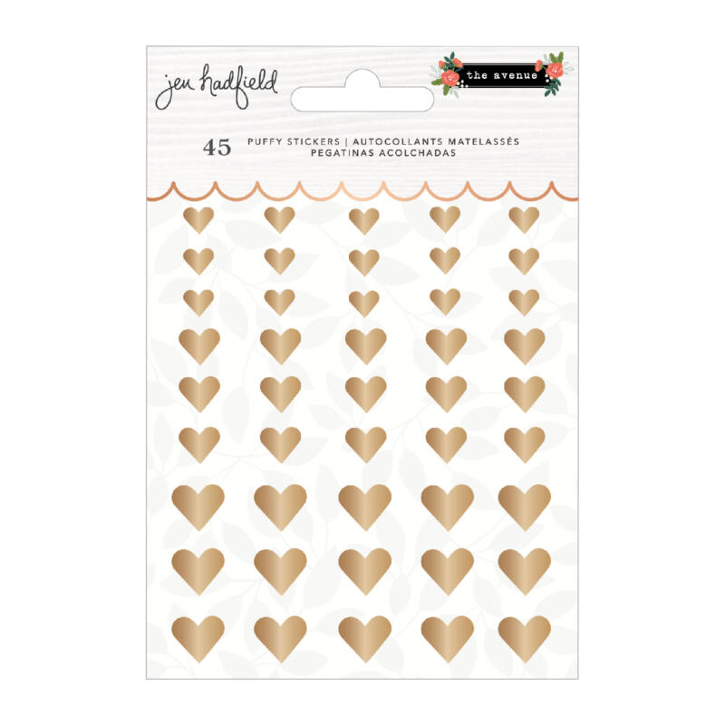 Pebbles - The Avenue Puffy Hearts Sticker (45 Piece)