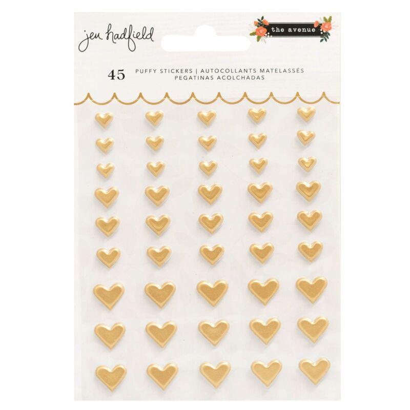 Pebbles - The Avenue Puffy Hearts Sticker (45 Piece)