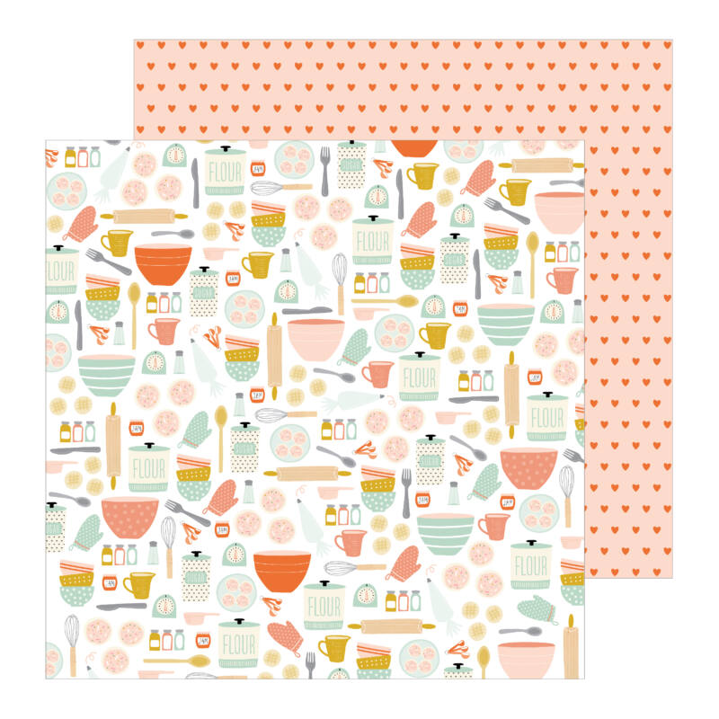 Pebbles - This is family 12x12 Patterned Paper - Baking Day